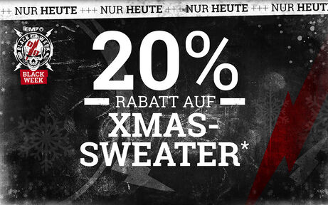 20% RABATT AUF XMAS-SWEATER! Jetzt kaufen!