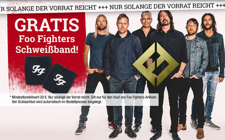 GRATIS Foo Fighters Schweißband!