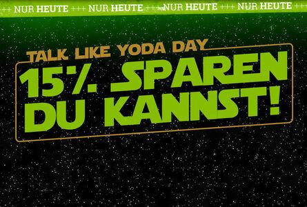 15% Rabatt auf Star Wars-Artikel!