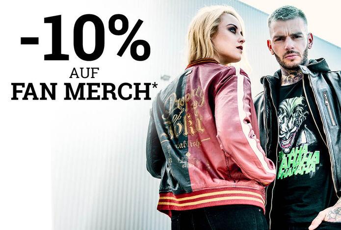 -10% auf Fan Merch