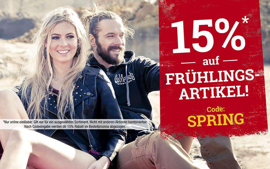 15% auf FRÜHLINGSARTIKEL! Code: SPRING