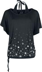 Doublelayer: T-Shirt und Neckolder-Top