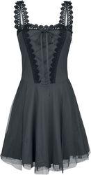 Kurzes Kleid mit Schnürung und Spitze Gothicana