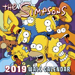 Simpsons Wandkalender 2019