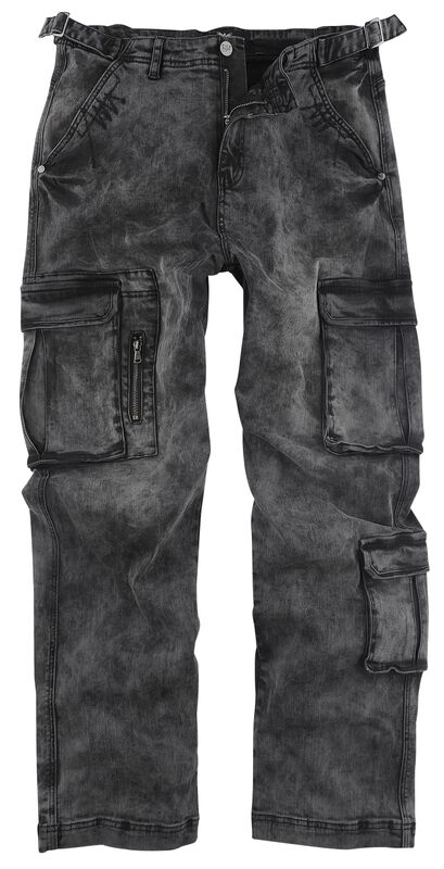 Army Vintage Trousers - dunkelgraue Cargohose mit Waschung