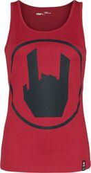 Rotes Top mit EMP-Logo-Print