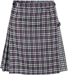 Contrast Check Buckled Mini-Kilt