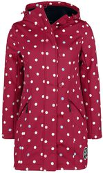 White Dots Softshell Girl Jacket red