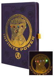 Infinity War - Gauntlet - Notizbuch mit LEDs
