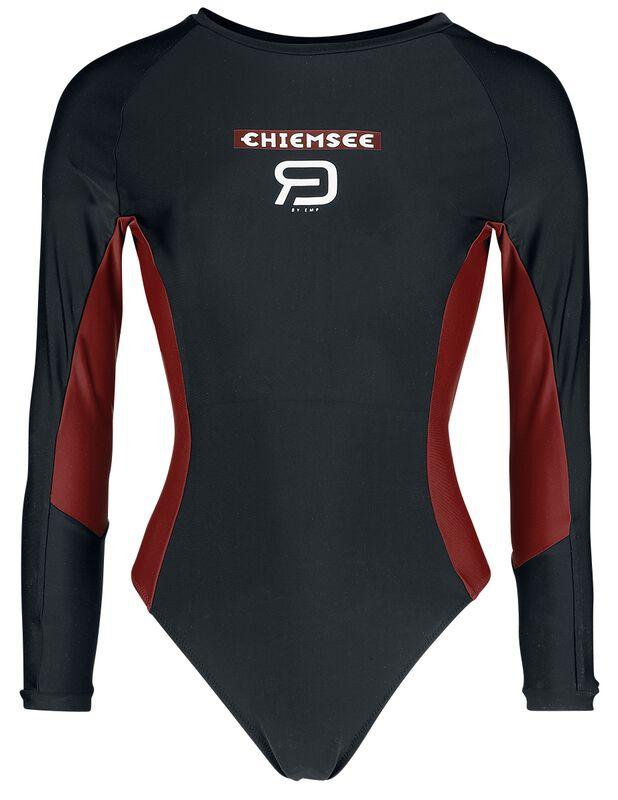 RED X CHIEMSEE - schwarzer Badeanzug mit Logoprint