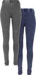 Pre-Pack Ladies Denim Jersey Leggings 2-Pack