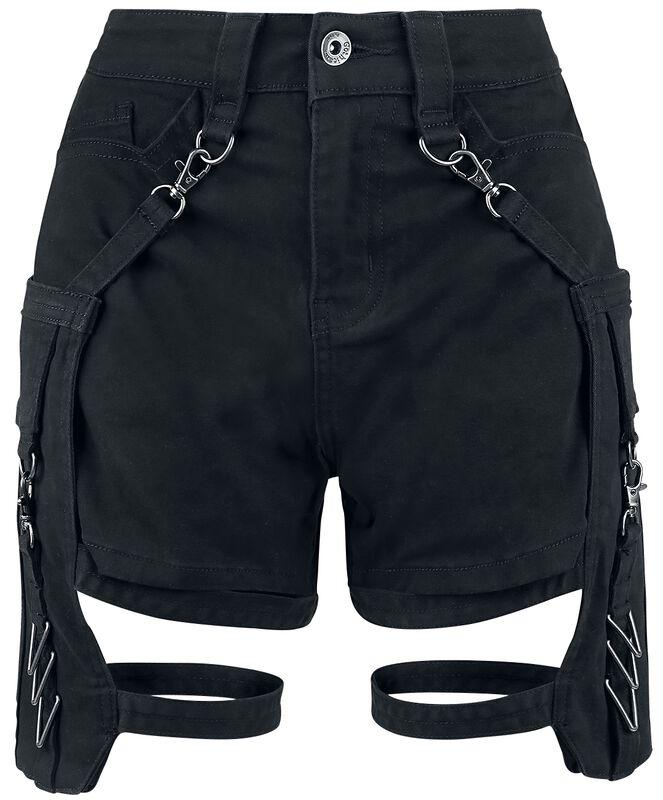 Schwarze Shorts mit abnehmbaren Taschen