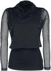 Netz-Pullover