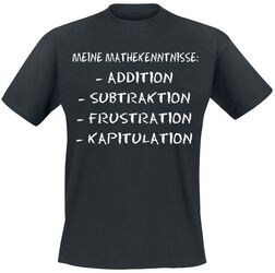 Meine Mathekenntnisse: Addition, Subtraktion, Frustration, Kapitulation