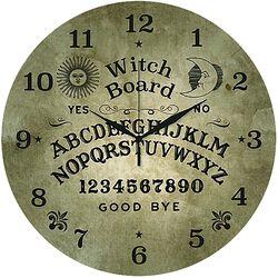 Glas-Wanduhr Ouija