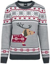 Ladies Sausage Dog Christmas Sweater