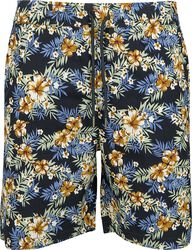 Pattern Resort Shorts - Hibiscus