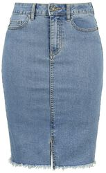 Be Lexi HW MB Pencil Denim Skirt