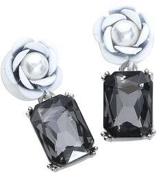 Goth Rose Earrings