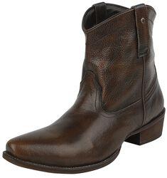 Schwarz/braune Cowboy-Boots