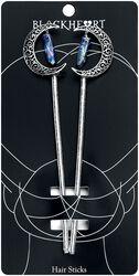 Crescent moon Dangling Crystal Hair Pins