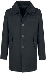 Pea Coat Manhattan mit Fellkragen