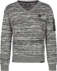 Knitted V-Neck Strickpulli