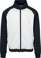 Crinkle Contrast Raglan Track Jacket