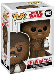 Episode 8 - Die letzten Jedi - Chewbacca with Porg Vinyl Bobble-Head 195