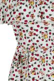 Flowers and Bees Off Shoulder Dress