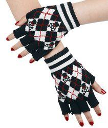 Fingerhandschuhe mit Karos