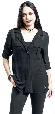 Semitransparente Bluse Black Premium