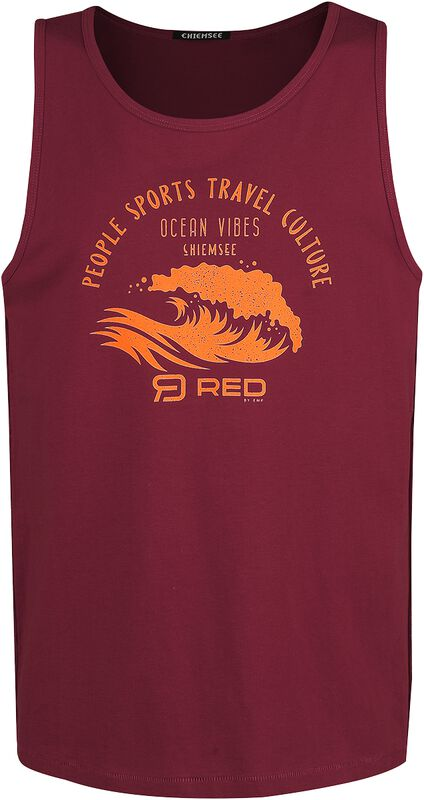 RED X CHIEMSEE - rotes Tank Top mit Print