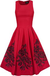 Annie Embroideres Roses Swing Dress