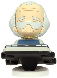 Doc Brown in Delorean (Pokis Figur)