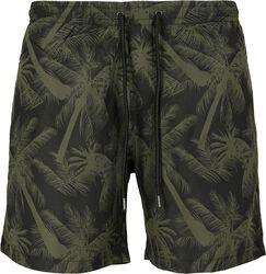 Pattern Swim Shorts Palm