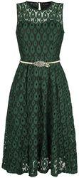 Gabriella Overlay Belted Dress