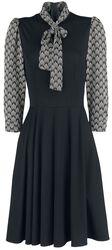 Bettie Black Art Deco Print Inspired Dress