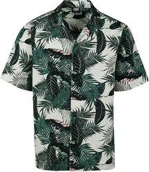Pattern Resort Shirt Palm Leaves
