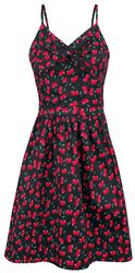 Polly Cherry Print Bow Dress