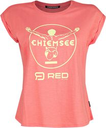 RED X CHIEMSEE - rosa T-Shirt mit Print