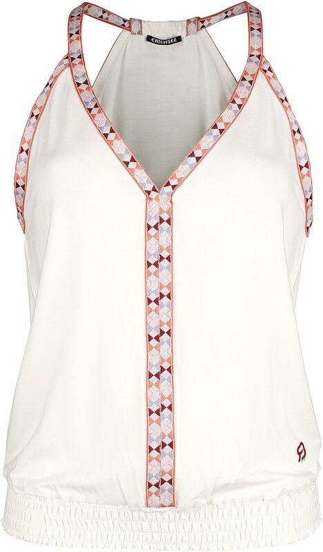 RED X CHIEMSEE - weißes Top mit bunten Kanten