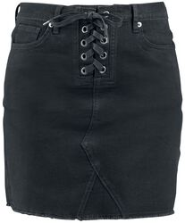 Front Knotted Five Pocket Denim Skirt