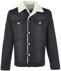 Jeans Jacke mit Teddyfell