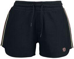 RED X CHIEMSEE - schwarze Shorts mit Logoprint