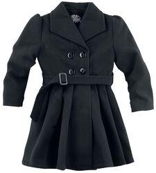Black Vintage Kids Swing Coat