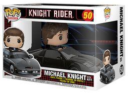 Michael Knight with KITT Pop Ride Vinyl Figure 50