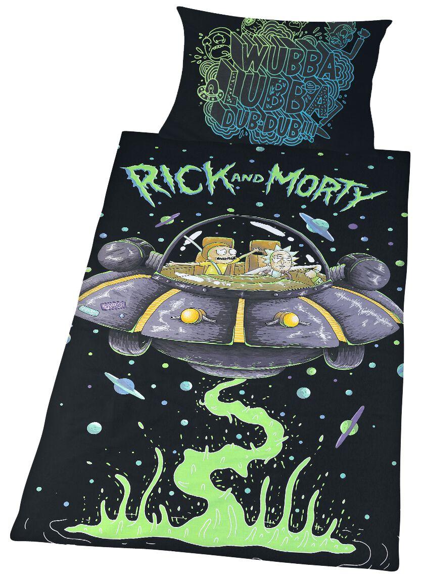 Spaceship Rick And Morty Bettwäsche Emp