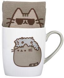 Pusheen und Stormy - Tasse mit Socke