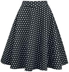 Shirley High Waist Full Circle Polka Dot Skirt